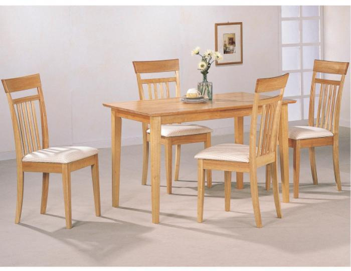 Superieur 5 Piece Maple Dining Room Set,Coaster